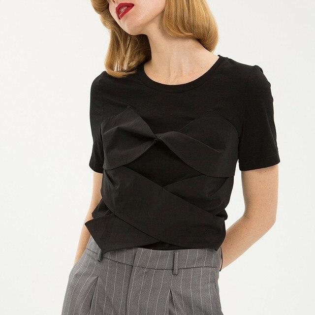 Summer Solid Women T Shirt...