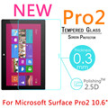 """Pro2 9H 0.3mm Toughened Tempered Glass For Microsoft Surface Pro 2 10.6"""" Tablet PC Film Explosion-Proof Screen Protector Cover"""