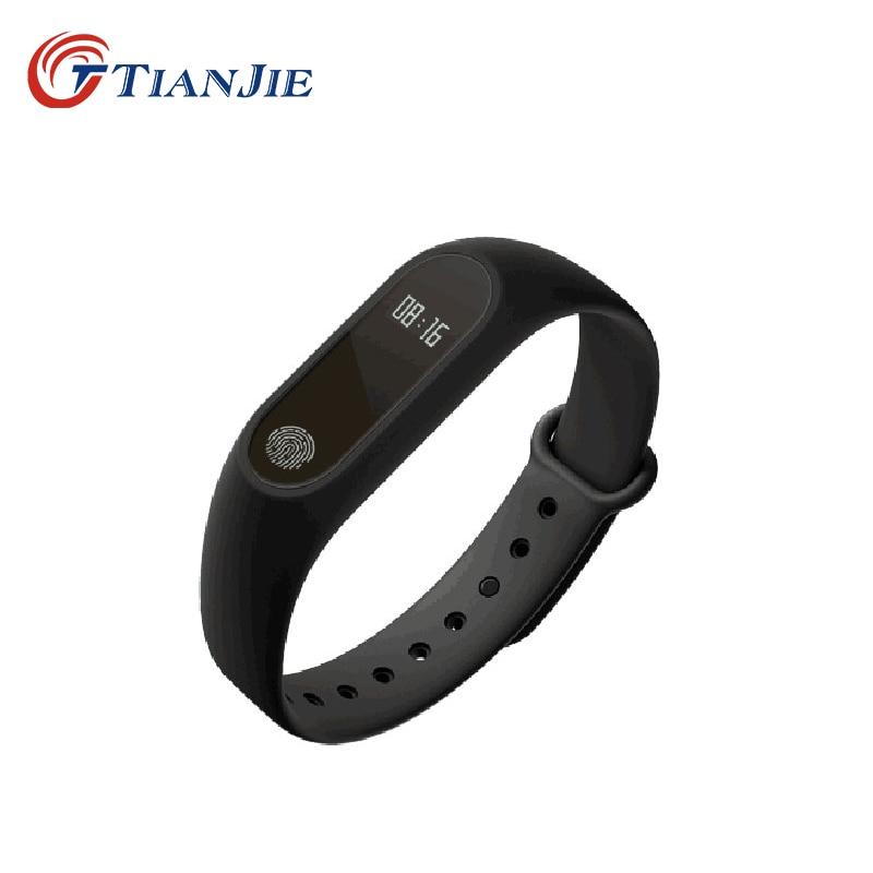 TIANJE M2 water proof pedometer Call and message reminder heart rate sleep monitor smart bracelet wristband PK mi band 2 3