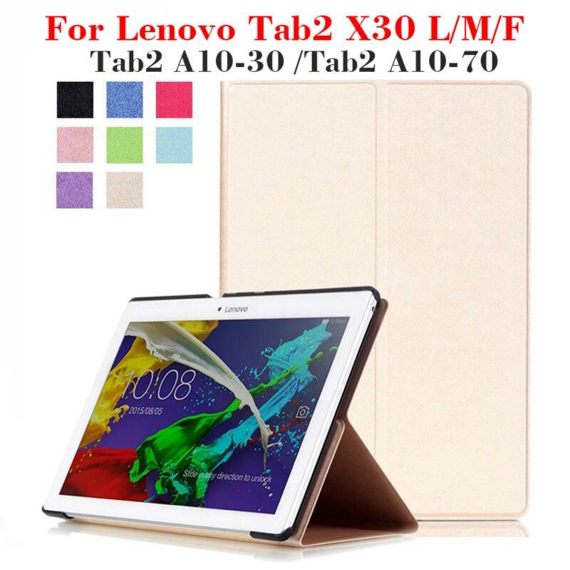 Tab2 X30F PU Housse En Cuir pour Lenovo Tab2 a10-30 A10 30 X30L a10-70 Tablet 10.1 pouce Aimant Cas Stand X30M tb2-x30l + cadeau