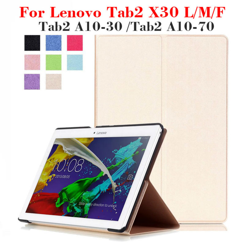 Tab2 X30F PU Leather Case Cover for Lenovo Tab2 a10-30 A10 30 X30L a10-70 Tablet 10.1 inch Magnet Case Stand X30M tb2-x30l +Gift fashion case tab2 a10 70 filp pu leather cover case for lenovo tab 2 a10 70 10 1 x30f a10 30 10 high quality case film stylus