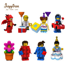 Lot Compatible Best Gift To Childrenthe Happy birthday serial cake flower party building block brick