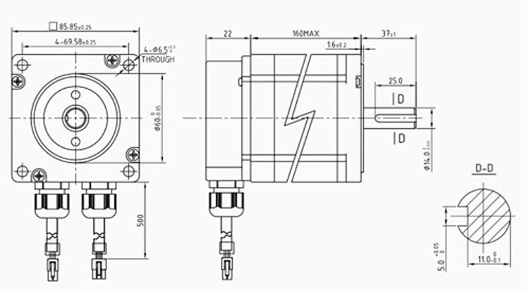 Nema 34 6.5Nm 2 phase 86 closed loop Hybrid stepper Motor