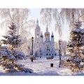 Картина по номерам DIY Прямая поставка 50x65 60x75 см красивый Снежный замок пейзаж холст свадебное украшение искусство картина подарок