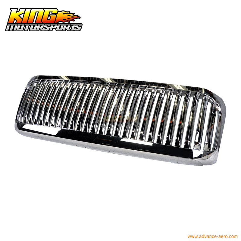 For 99-04 Ford F250 F350 Excursion Vertical Grille Chrome USA Domestic Free Shipping Hot Selling for 2004 2008 ford f150 chrome vertical front hood grill grille usa domestic free shipping hot selling