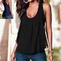 ZANZEA 2017 Summer Sexy Women Tank Top Casual Loose O neck Chiffon Vest Sleeveless Blusa Camis Plus Size S-4XL