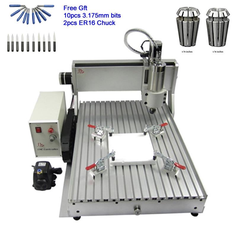 Chine 6090 CNC Routeur Graveur USB Fin de Course 2.2KW Broche De Refroidissement De L'eau Machine À Bois