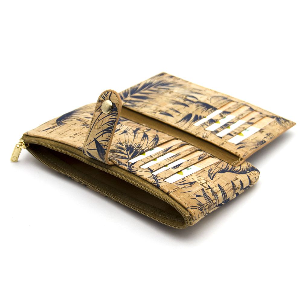 Naturkork plånbok med fjädertryck kvinna vegan plånbok - Plånböcker - Foto 3