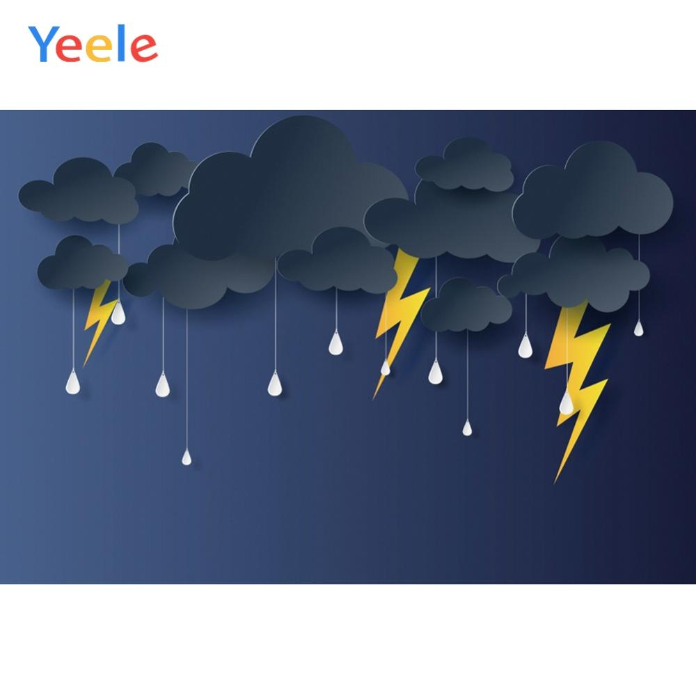 Yeele Photocall Lightning Thunder Terrible Weather Photography Backdrops Personalized Photographic Backgrounds For Photo Studio in Background from Consumer Electronics