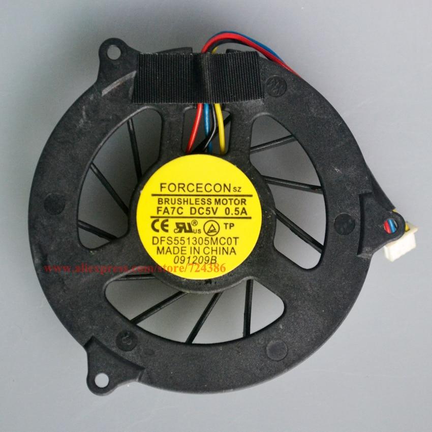 New 1535 Cooling fan for DELL Studio 1536 cooler 1557 1558 PP33L M4500 cpu fan DFB601505M30T 1537 1555 laptop cpu cooling fan new laptop keyboard for dell studio 15 1535 1536 1537 0kr770 backlit french layout