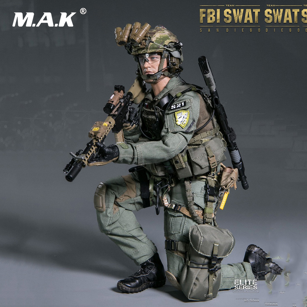 Figure Model Toys for Collection 1/6 Scale 78044 A Elite Series FBI SWAT TEAM AGENT SAN DIEGO Full Set Male Action Figure Gift