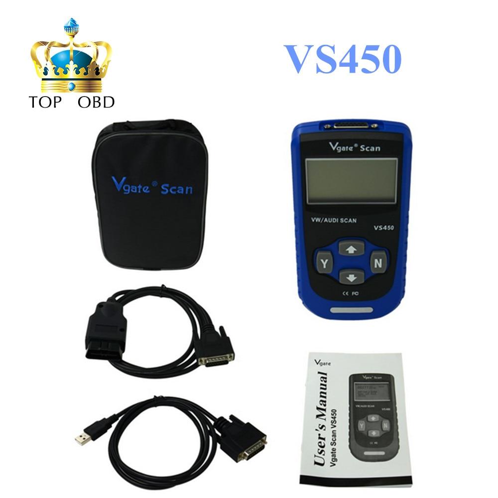 Free Shipping Vgate Scan VS450 VW VAG Scanner OBD2 Diagnostic Tool Scaner For Car Scanners Automotive