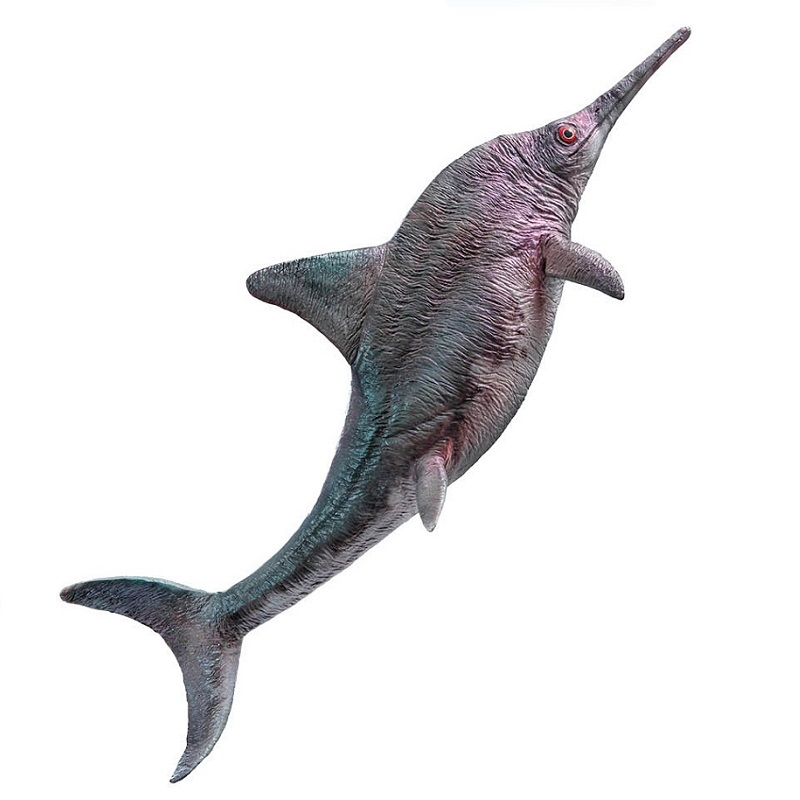 PNSO Ancient Animal Figure doll Brook the Ophthalmosaurus With Display Base Classic Toys For Boys Sea