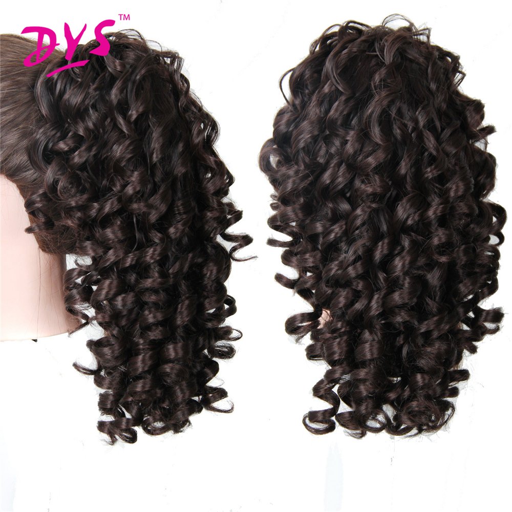 Deyngs 20inch Kinky Curly Claw i Ponytail Hair Extensions Fake Hair - Syntetiskt hår - Foto 3