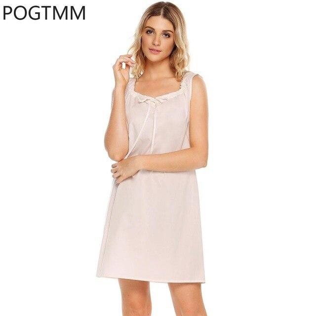 Summer Cute Nightgown Sexy Nightdress Women Cotton Sleeveless Nightshirt  Sleepshirt Sleep Dress Female Night Wear Girls Clothing 163486fdc6d6