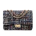 Small Flap Shoulder Bags Women Messenger Gold Chain Cross Hand Bag Vintage Clutch Winter Satchel Woolen Crossbody Designer FI