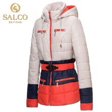 SALCO Free shipping new European and American fashion hit color ladies padded jacket
