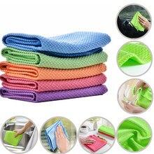 Khgdnor macio microfibra toalha de limpeza de vidro absorvente cozinha pano de limpeza toalhetes mesa janela do carro toalha de prato pano