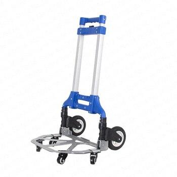 Chariot pliant Portable voiture panier bagages petit chariot voiture personnes âgées panier maison remorque léger voyage