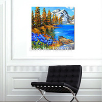 LANDSCAPE Art contemporary scenery wall art Hand Painted mountain scenery oil painting on canvas for wall decoration