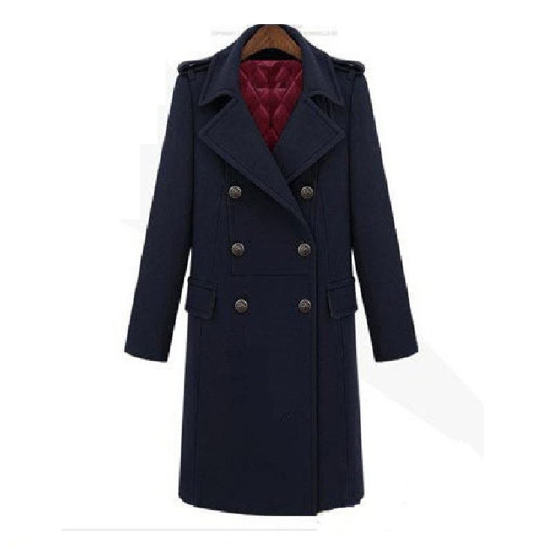 Women Wool Trench Coats Quilted Fall Winter 2016 Outwear ...
