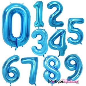 Image 5 - Globos de aluminio con número de 40 pulgadas para boda, fiesta de cumpleaños, dígitos, Globos inflables de helio, suministros de baño para bebé