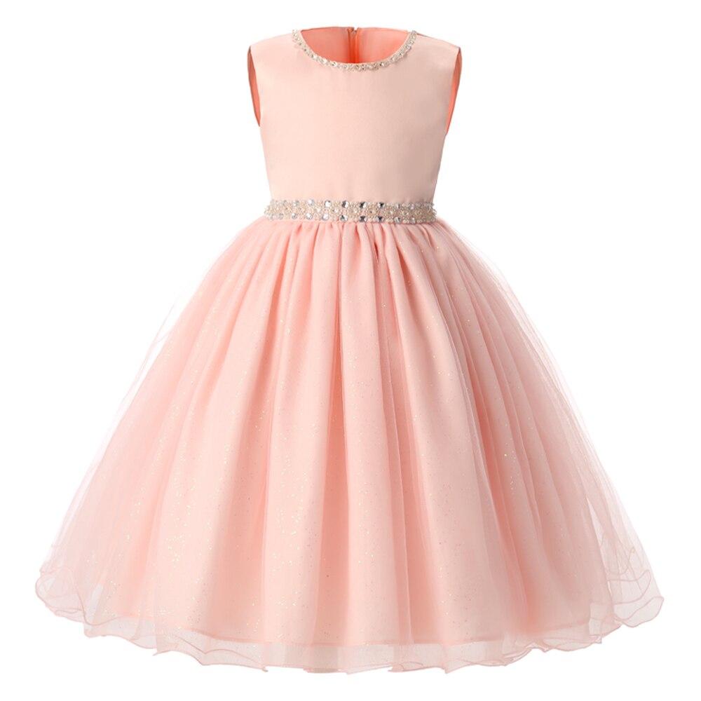 Baby girl pink sequin dress - Summer Christmas Flower Girls Dress Wedding Sequined Girl Clothing Princess Dresses Baby Girl Kids Party Dress
