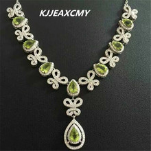 KJJEAXCMY boutique jewelry,Ladies NATURAL PERIDOT Necklace inlay jewelry wholesale S925 Sterling Silver yoowei 5mm amber women necklace for christmas new year gift round gold baltic amber jewelry s925 silver beads boutique wholesale