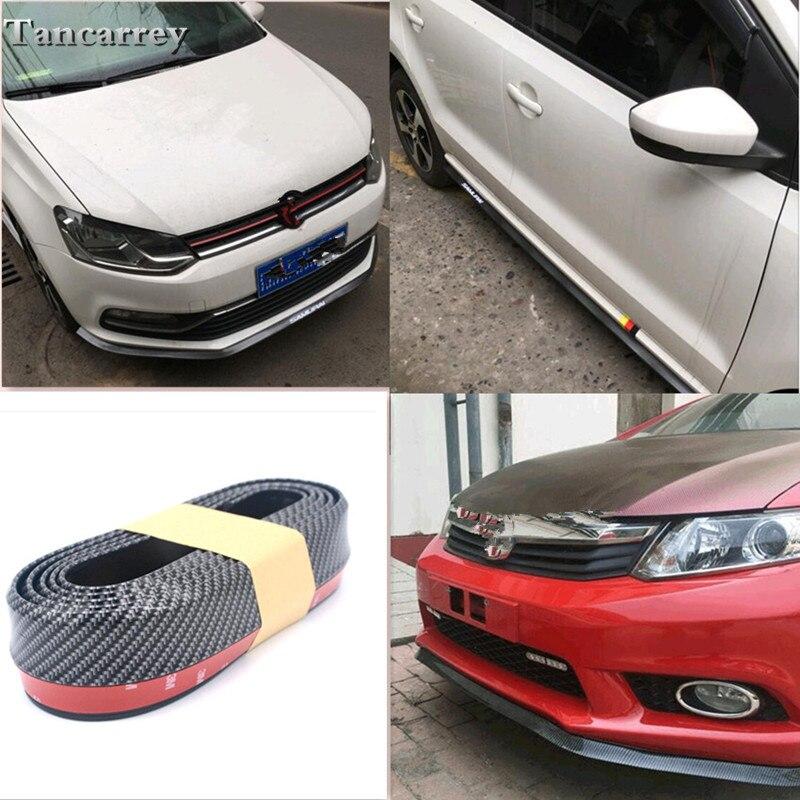 2017 new style 2.5M car front lip bumper stickers FOR suzuki gsr 600 seat ibiza radio citroen xsara bmw e90 tiguan Car styling