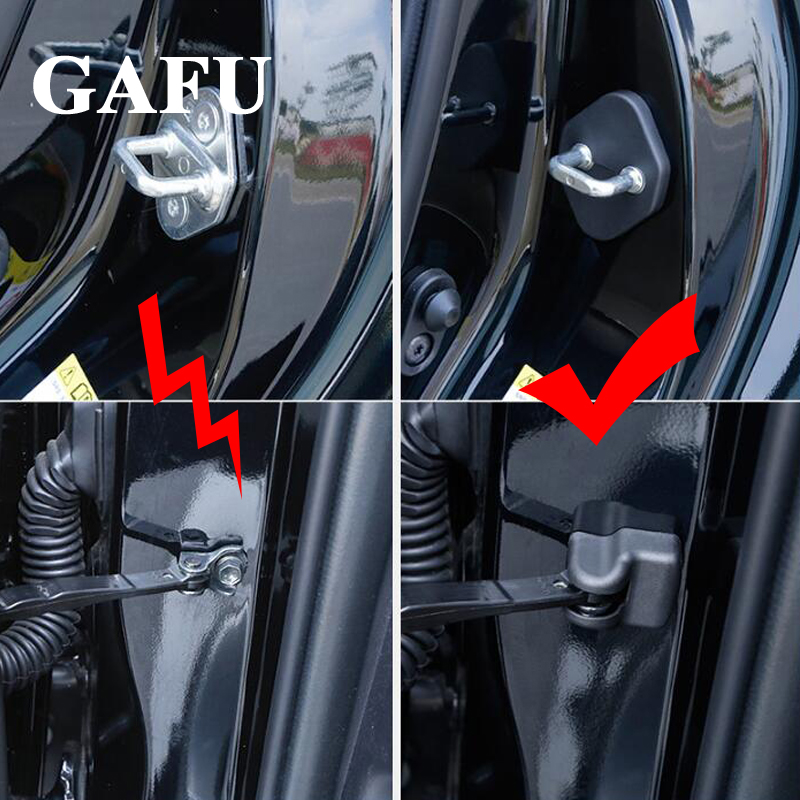 car styling Door lock decoration cover car covers Door Stopper Protection Cover For toyota rav4 2018 2019 accessories 2018 2019 in Chromium Styling from Automobiles Motorcycles