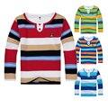 Alta calidad niño grande camiseta de los muchachos niños polo camisa del muchacho camisetas niños de algodón de manga larga ropa de primavera
