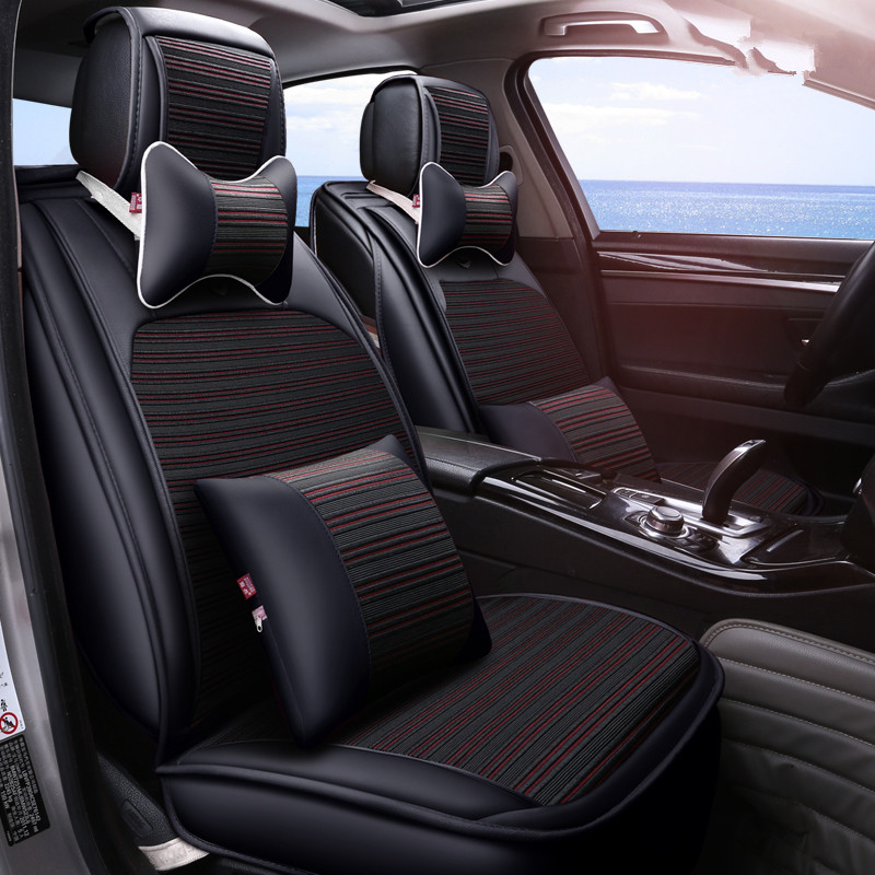 New 3D Styling Car Seat Cover Sports Styling,, Ice Silk Car Cushion For BMW Audi A3 A4 A6 Q7 Q5 Honda Ford CRV Sedan cartoon new car seat cover cushion top grade pvc accessories lovely car styling seat cushion covers seat mats for bmw audi honda
