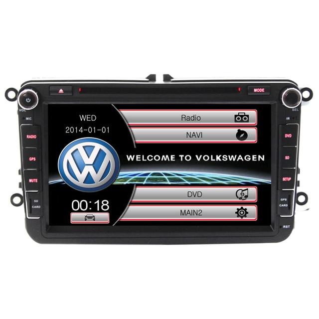 Wince6.0 Gps Bluetooth RDS AM FM Para VW passat B6 B7/CC Tiguan Octavia Coches Reproductor de DVD Control Del Volante Libera El mapa