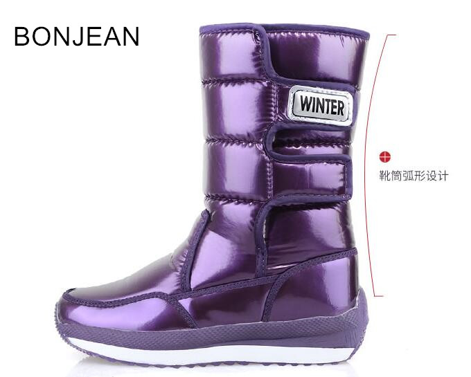 купить 2018 winter new children snow boots non-slip waterproof short tube snow cotton boots warm thick winter boots 1573 по цене 3739.86 рублей
