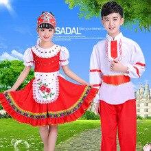 2488ac71170af الروسية الأطفال الوطني و Costum الفتيات الفتيان الكلاسيكية التقليدية ملابس  رقص اللباس الملابس الاطفال المرحلة الأداء