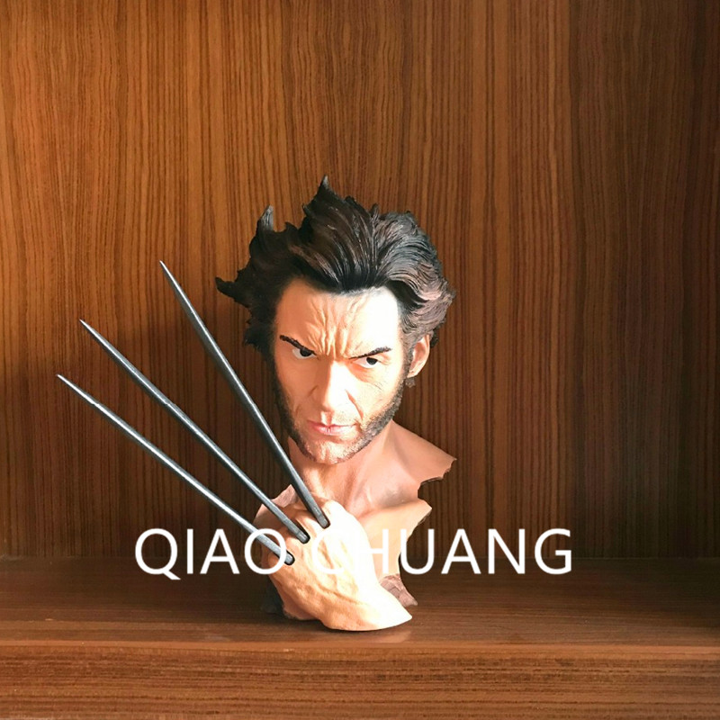 X Men Wolverine Bust Hugh Jackman Resin Statue Wolverine Action Figure Collectible Model Toys Home Decorations S236