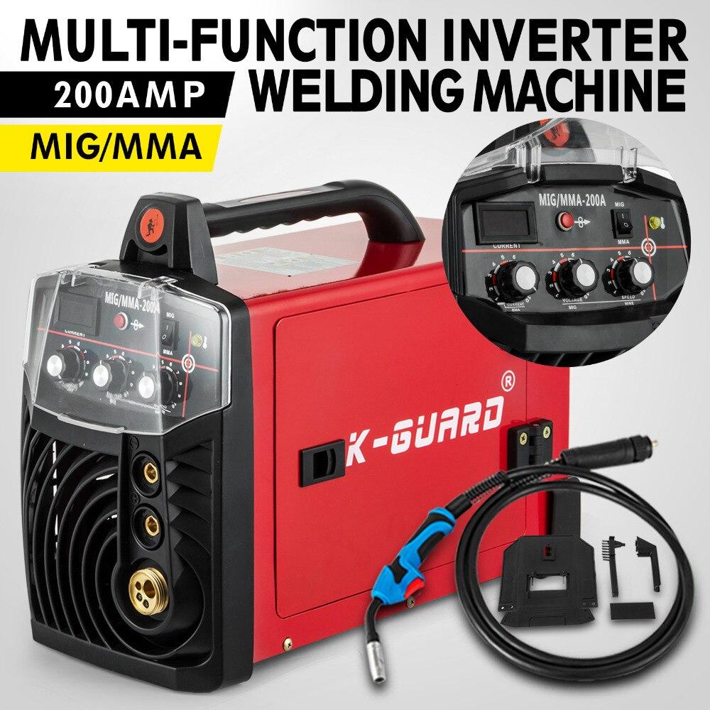 Onduleur Machine à souder MIG MAG MMA 200 ampères soudage électrode de fil continu 230 V