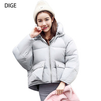 Inverno Jaqueta ropa de algodón Sueltos Mujeres Parkas Chaqueta Corta Parka Wadded Chaquetas y Abrigos de Invierno Para Mujer Talla XS S-1XL B0125