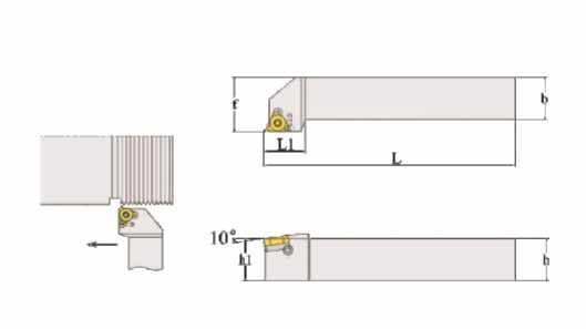 5//8 2PCS CNC Lathe Carbide Indexable Threading Turning Tool Holder SER1616H16 SEL1616H16 with 2PCS 16ER//IR AG60 BP010 Indexable Carbide Turning Insert Blade