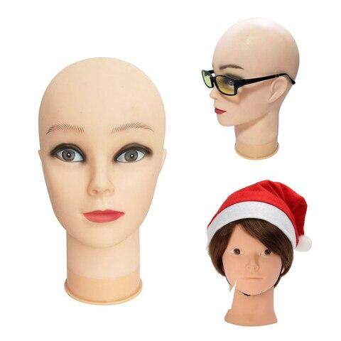 Cabeça sem Cabelo para Fazer Peruca e Chapéu de Exibição Top Vendendo Feminino Manequim Stand Cosmetologia Manequim Cabeça Treinamento t Pinos