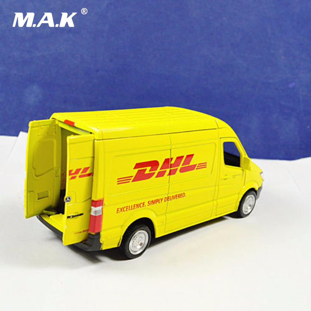Купить с кэшбэком Cheap Kid Toys 1:36 Commerical Vehicle Diecast Car Model Toys For Express DHL Car Truck Diecast Model Toy Kids Gift