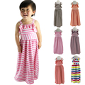 Stripped Girls Dress Summer Girl clothings Ruffles Maxi beach long Dress striped  Princess Children's Clothing Kids Clothes