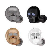 Stylish Bluetooth music headset personality cool skull invisible sports call voice report