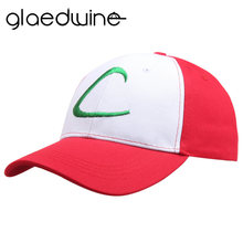 be947db00800d 2018 Hot Letter Adult snapback Gorras Anime Cospaly Casquette Pokemon Hat  Ash Ketchum Visor Caps Costume Play Baseball Cap