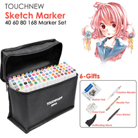 TOUCHNEW 40 60 80 168 Color Animation Marker Pen Set Drawing Sketch Touch Art Markers Alcohol