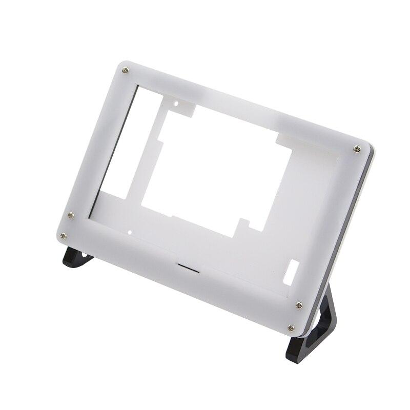 Raspberry Pi 3 Model B+ Plus 5 inch LCD Acrylic Bracket Case Black White Fixed Bracket Holder for 800*480 Touchscreen Support