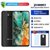 Ulefone power 6 Smartphone Android 9.0 Helio P35 Octa-core 6350mah 6.3 4GB 64 GB 16MP face ID NFC 4G LTE Global Mobile Phones