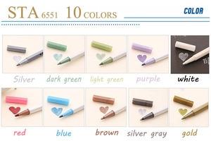 STA 6551 Metal Mark Pen Color Marker Graffiti Pen Multicolor para metal oil Paint Marker Sharpie pens Chacos Drawing