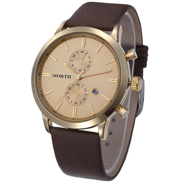 Zegarek męski NORTH dwie tarcze elegancki różne kolory