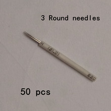 50 Pcs 3 R Needles For Manual Pen Semi Permanent Makeup Manual Fog Pen Needle Microblading Eyebrow Pen Needles